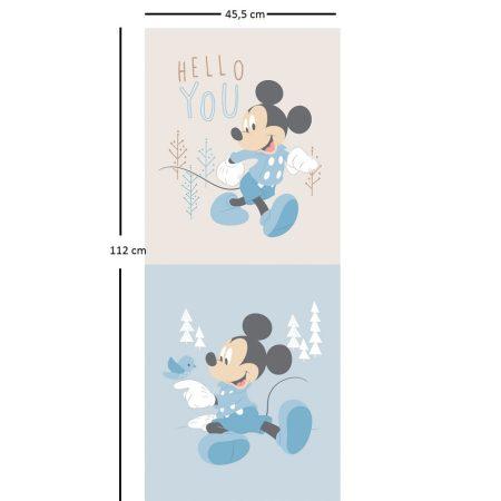 Mickey egér panel 112 x 45 cm  (Mickey Little Meadow Multi Panel in Blue)