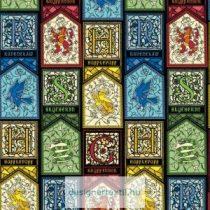 Harry Potter ólomüveg mintás pamutvászon méteráru - (Harry Potter Stained Glass)
