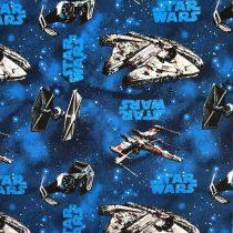 Star Wars - Űrhajók kék alapon pamutvászon (Star Wars Rebel Ships Blue)