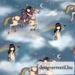 Santoro Rainbow Dreams pamutvászon (Quilting Treasures - Santoro Rainbow Dreams cotton)