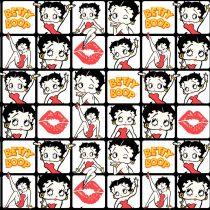 Betty Boop pamutvászon méteráru - Betty Boop Kissed Tiles Camelot Fabric