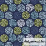 Kék virágos pamutvászon (Blue Da Burst Dk Blue)