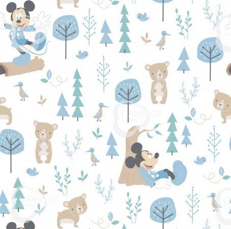 Mickey quilt cotton fabric Disney - Little Bear in Blue