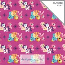 Én kicsi pónim flanel - Magenta My Little Pony Friends Flannel