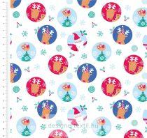 Karácsonyi karakterek pamutvászon méteráru (Santa & Reindeer Christmas)