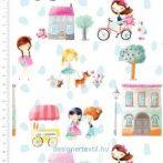 Lánynap - designer pamutvászon (Girls Day Out)