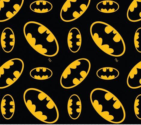 Batman Tossed Logo licensed flannel by meter
