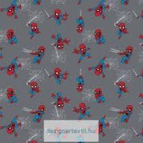 Mini pókember mozaik pamutvászon (Mini Spiderman Grey)
