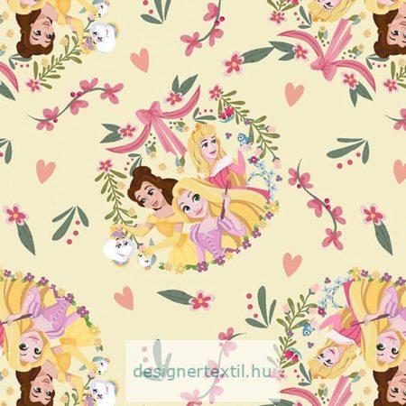 Disney hercegnők pamut jersey (Disney Princess)