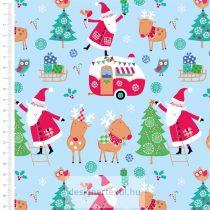 Santa & Reindeer Christmas - designer quilt cotton