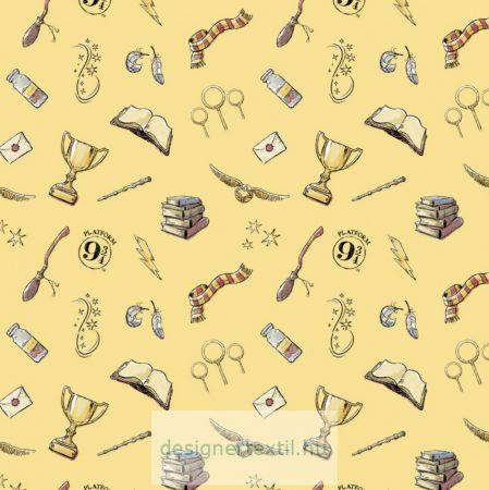 Harry Potter yellow magic pamutvászon - (HP Yellow Magic)