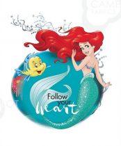 Ariel blokk -Disney hercegnők panel 45,5 x 56 cm (Disney Princess Heart Strong - Explore new world panel)