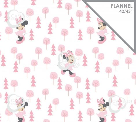 Minnie mouse flannel