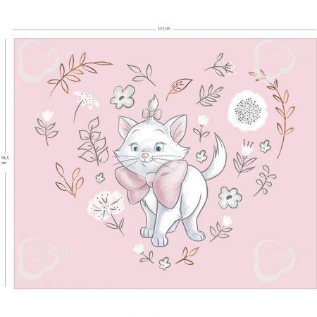 Marie cica takaró panel - Disney Sentimental 90x112 cm (Marie Panel in Pink - Metallic Copper)