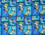 Batman in Royal flannel by Camelot Fabric - fat quarter 50x55 cm piece
