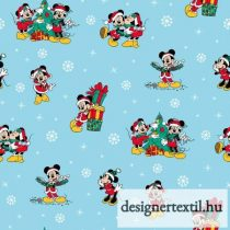 Mickey és Minnie karácsonyi pamutvászon (Disney Mickey & Friends Christmas Day)