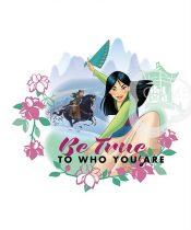 Mulan blokk - Disney hercegnők panel 45,5 x 56 cm (Disney Princess Heart Strong - Explore the world panel)