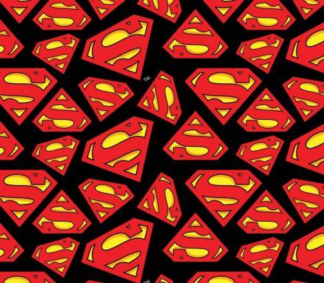 Superman logo flanel méteráru - (Superman Tossed Logo)