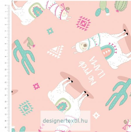 No Prob Llama - designer cotton fabric