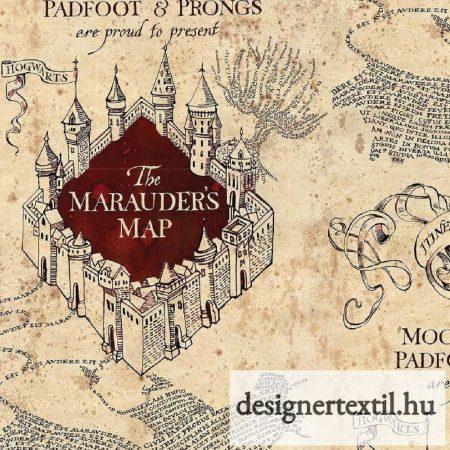 Harry Potter Tekergők Térképe pamutvászon - (HP Marauders Map)
