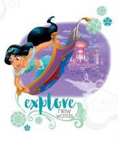 Jázmin blokk - Disney hercegnők panel 45,5 x 56 cm (Disney Princess Heart Strong - Explore the world panel)