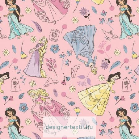 Pink Charming Princesses Flannel