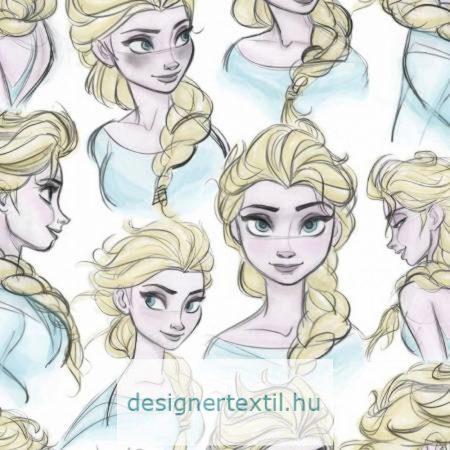 Jégvarázs Elza pamut jersey (Disney Elsa Sketch)