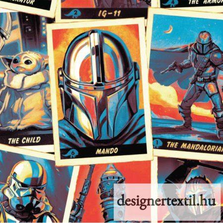 Star Wars Mandalorian pamutvászon (Star Wars Trading Card Cotton)