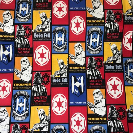 Star Wars The Last Jedi quilt cotton fabric Stormtrooper Crowd in White