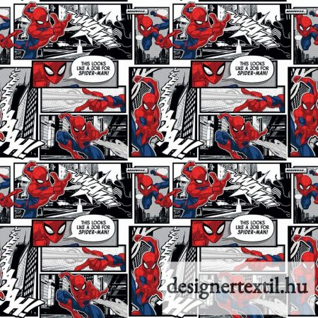 Pókember képregényes pamutvászon (Marvel Spiderman Comic Panels)