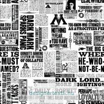 Harry Potter Newsprint quilt cotton by Camelot Fabric