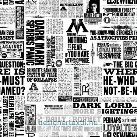 Harry Potter újság pamutvászon - (HP Newsprint)