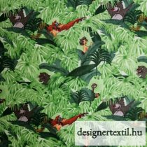 Dzsungel könyve pamutvászon - (Disney Jungle Book Baloo and Mowgli Green)