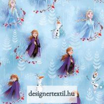 Jégvarázs 2 kék - pamutvászon (Disney Frozen Anna & Elsa Digital Cotton)