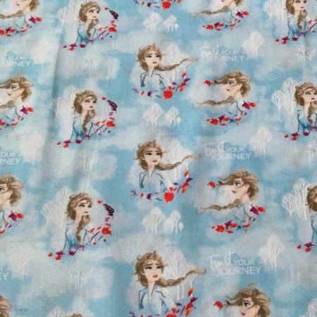 Elza - Frozen pamutvászon - (Disney Frozen 2-  Elsa Watercolour Fabric)