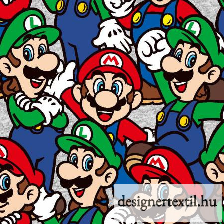 Nintendo Mario pamutvászon (Nintendo Mario Lugi Packed)
