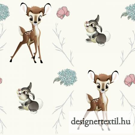 Disney Bambi és nyuszi pamutvászon (Disney Bambi Thumper Cross)