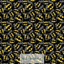 Batman dupla logó pamutvászon méteráru - ( Batman Logo Overlay)