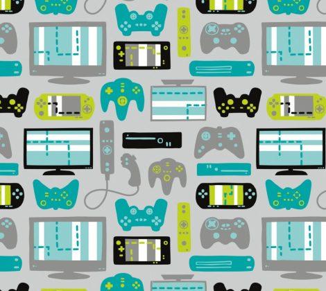 videojáték designer pamutvászon anyag