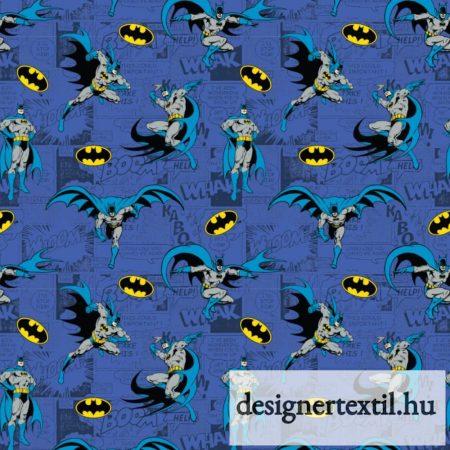 Batman Comics Blue pamutvászon