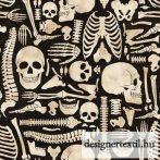 Csontvázas pamutvászon (Halloween Boney Yard)