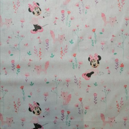 Mickey quilt cotton fabric Disney - Little Bear in Blue