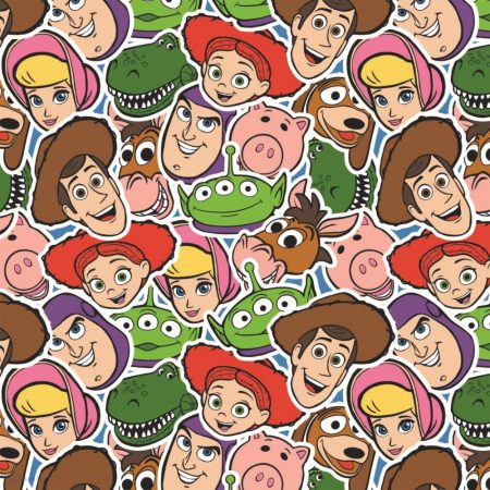 Toy Story kollázs pamutvászon - (Disney Toy Story Fabric)