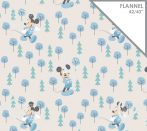 Disney flannel - Mickey in the Meadow in Blue